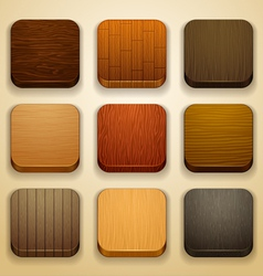 Wood background for the app icons vector