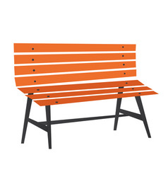 wooden park bench cartoon vector image