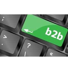 Word b2b on digital keyboard key Keyboard keys vector