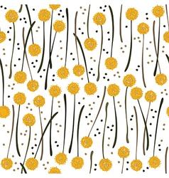 Yellow dandelions vector