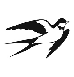 Barn swallow icon simple style vector