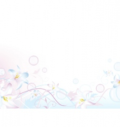 floral bubbly decoration vector image vector image