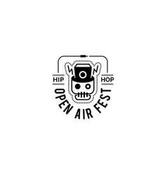 logo badge for music festival vector image