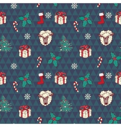 Seamless christmas pattern in vector image vector image