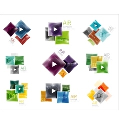 Set of square web boxes vector image vector image