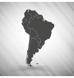 South America map on gray background grunge vector image vector image