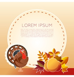 Thankgiving day banner vector image