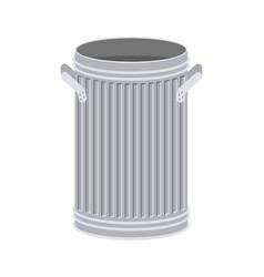 Trash can open isolated wheelie bin on white vector