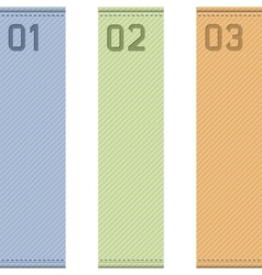 Vertical ribbons vector image vector image