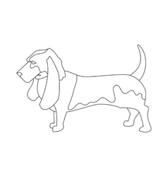Basset hound linear style vector image vector image