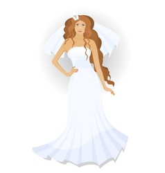 Bride with a veil vector image vector image