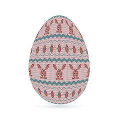 easter stylized ethnic ornamental egg with rabbit vector image
