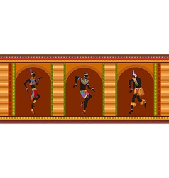 Ethnic dance african people vector image vector image