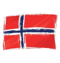 grunge Norway flag vector image vector image