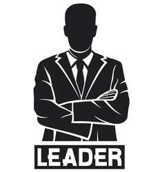 leader-successful businessman vector image vector image