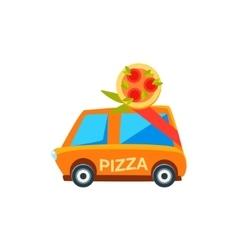 Pizza Delivery Toy Cute Car Icon vector image vector image