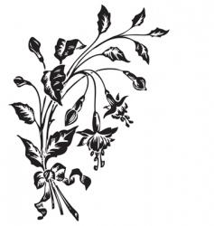 retro flowers engraving vector image vector image