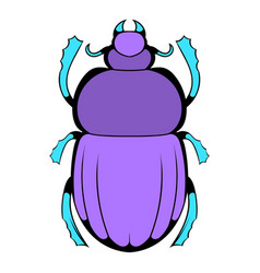 scarab icon cartoon vector image vector image