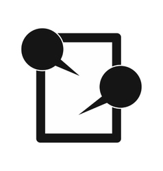 Tablet chatting icon simple style vector image vector image