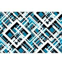 Trendy Blue Geometric Seamless Pattern vector image