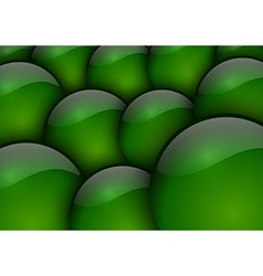 background circles green vector image