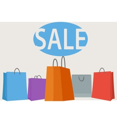 Colorful shopping bags background vector image vector image