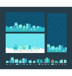 Format card for congratulation with christmas vector