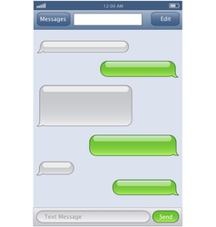 Phone chat template vector