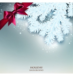 Elegant Christmas background with place for text vector image vector image