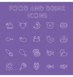 Food and drink icon set vector image vector image