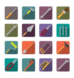 Set of renovation tools icons vector image vector image