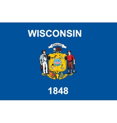 Wisconsin flag vector image vector image