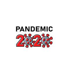 2020 coronavirus cells pandemic text banner vector