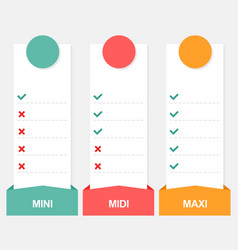 3 options infographics template with price vector