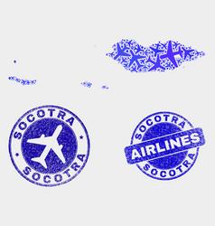 Air plane composition socotra archipelago vector