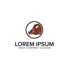 babi hutan logo design concept template vector image