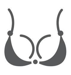 bra glyph icon underwear and woman lingerie sign vector image