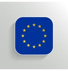 Button - Europe Flag Icon vector image