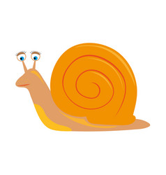 cartoon snail on white background vector image