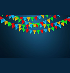 Celebration carnival party background with flags vector