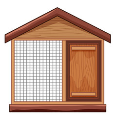 Chicken coop with net vector