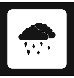 Clouds and hail icon simple style vector
