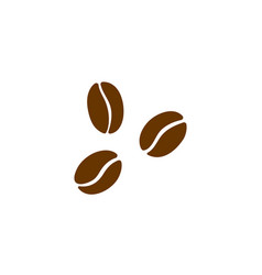 coffee beans isolated on white vector image