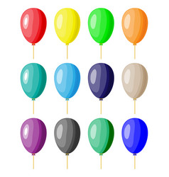 color balloon set vector image