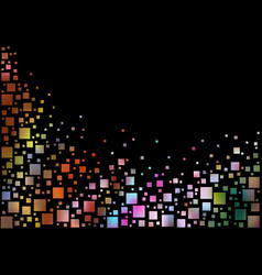 Colorful pixels background vector