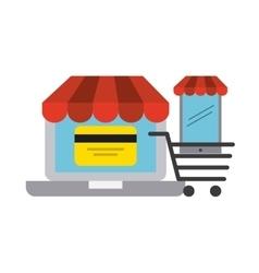 commercial market design vector image