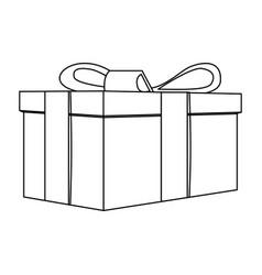 contour gift short boxes icon vector image