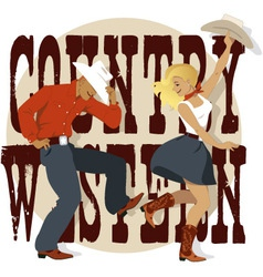 Country western vector