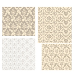 Damask pattern set vector