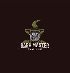 Dark master witch vector